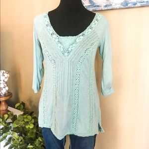 Anthropologie Mint Top